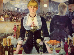 Edouard Manet, A Bar at the Folies-Bergeres, 1882, (Courtauld Institute Galleries, London)
